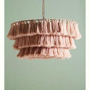 Pink Tasseled light fixture